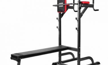 banc de musculation avec barre traction